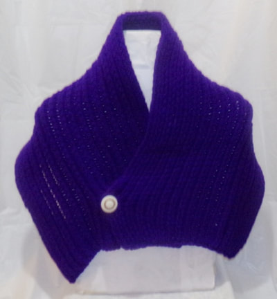 Purple Knitted Shawl